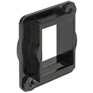 Keystone Halterung 1 Port D-Typ (XLR) schwarz DELOCK 86275
