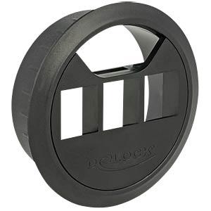 Keystone Halterung 3 Port für Tischbau schwarz DELOCK 86277