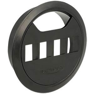 Keystone Halterung 4 Port für Tischbau schwarz DELOCK 86283