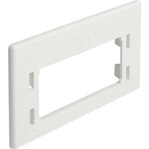 Keystone-houder meubelinbouw adapterplaat wit DELOCK 86290