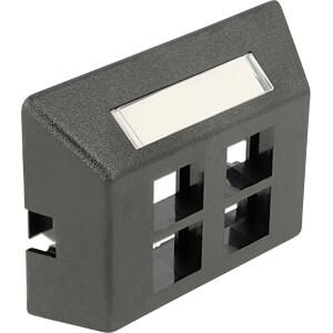 Keystone-houder meubelinbouw 4-poorten zwart DELOCK 86297