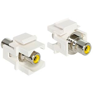 Keystone RCA socket > RCA socket, yellow DELOCK 86306