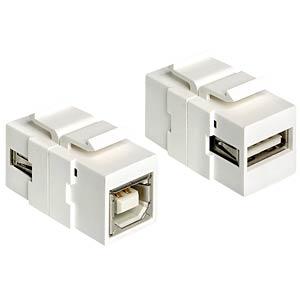 Keystone Modul USB 2.0 A-Buchse >  B-Buchse DELOCK 86320