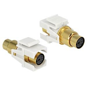 Keystone Mini-DIN 6 Pin Buchse>Buchse vergold. DELOCK 86339