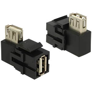 Keystone Module USB 2.0 A female >  USB 2.0 A female 90° angled DELOCK 86354
