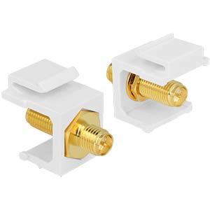 Keystone module RP-SMA socket > RP-SMA socket DELOCK 86356