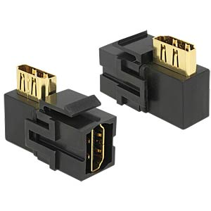 Keystone Module HDMI female>HDMI female 90° DELOCK 86358