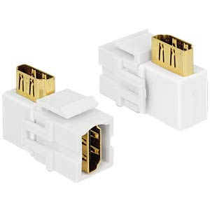 Keystone Module HDMI female > HDMI female 90° angled white DELOCK 86359