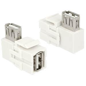 Keystone Modul USB 2.0 A-Buchse / Buchse 90° DELOCK 86364