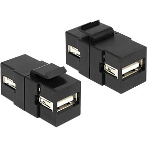 Keystone Modul USB Buchse>USB Buchse schw. DELOCK 86367