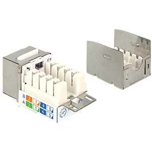 Keystone Modul RJ45 Secure Cat.6 > LSA DELOCK 86404