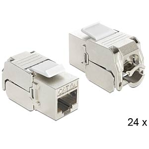 Keystone Module RJ45 jack > LSA Cat.6A 24 pieces DELOCK 86405