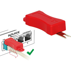 RJ45 Secure Clip Starter Set 20 Stück DELOCK 86406