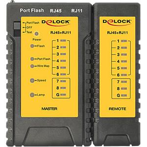 Netzwerk Tester RJ45 / RJ12 + Portfinder DELOCK 86407