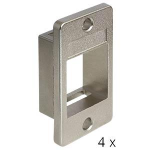 Keystone Halterung 1-Port>Geräteeinbau, 4 Stück DELOCK 86413