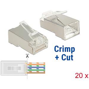 Netzwerk RJ45 Crimp+Cut Stecker Cat.5e STP 20 Stück DELOCK 86452