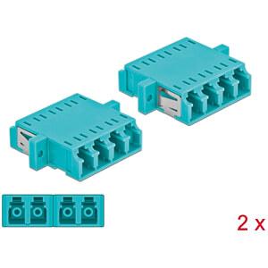 Glasvezelkoppeling LC Quad/LC Quad, 2 stuks DELOCK 86541