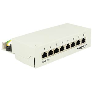 Mini-Patchpanel, 8-Port, Cat.6a, 1 HE DELOCK 87289