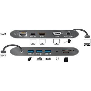 Dockingstation/Port Replicator, USB 3.1, Laptop, dunkelgrau DELOCK 87297