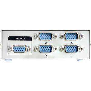 RS-232 4-port manual serial switch DELOCK 87589