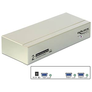 2-Port VGA Audio und Video Splitter 450 MHz DELOCK 87654