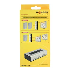 Switch 2-port DVI manuell bidirektional DELOCK 87664