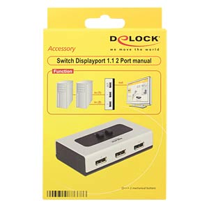 Switch 2-port Displayport 1.1 manuell DELOCK 87668