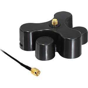 Magnetfuß für WLAN Antenne, RP-SMA Buchse DELOCK 88439