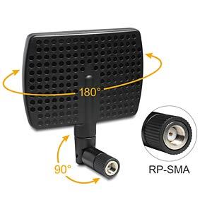 WLAN Antenne RP-SMA, 5-7 dBi, direktional DELOCK 88447