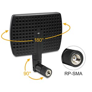 WLAN Antenna RP-SMA, 5-7 dBi, directional DELOCK 88447