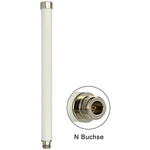 Antenne WLAN N-Buchse 280mm omni starr weiß DELOCK 88821