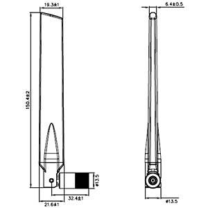 WLAN Antenna, RP-SMA, 3-5 dBi, omnidirekt. DELOCK 88898