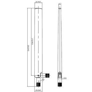 WLAN Antenne, RP-SMA, 3-6 dBi, omnidirekt. DELOCK 88900