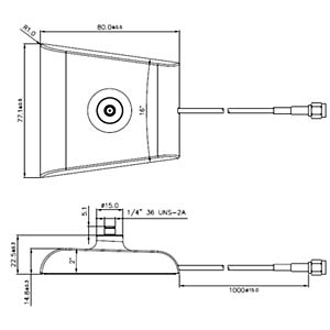 Antennenfuß SMA St. > SMA Buchse 1m - weiß DELOCK 88974