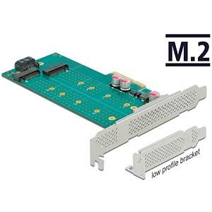 DELOCK 89047 - Konverter PCIe x4 > 2 x M.2 NVMe