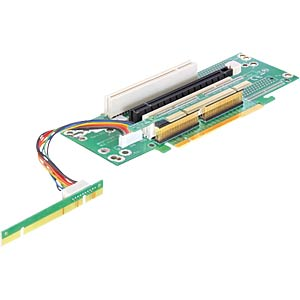 Riser PCIe x16 > 2 x PCI + 1x PCIe x16, left insertion DELOCK 89151