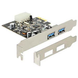 USB-Contr.3.0, 2-Port,PCI-Express,Molex Power DELOCK 89241