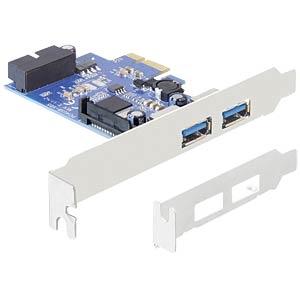 USB 3.0 controller PCIe 2 x external 1 x internal 19-pin DELOCK 89315