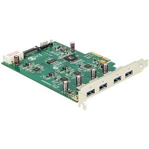 USB-Controller, PCIe x4 IOI > 4x USB 3.0 DELOCK 89325