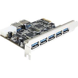 PCI Expr. Karte > 5 x extern + 2 x intern USB 3.0 DELOCK 89355