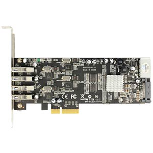 USB 3.0 controller, 4-port Quad channel, PCIe DELOCK 89365