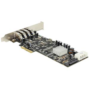 USB-Controller 3.0, 4-Port QUAD Channel, PCIe DELOCK 89365
