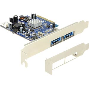 PCI Expr.Card>2x ext. Multiport USB3.0+eSATAp DELOCK 89366