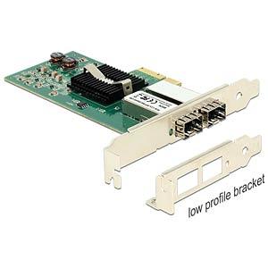 PCI Express Karte > 2 x SFP Slot Gigabit LAN DELOCK 89376