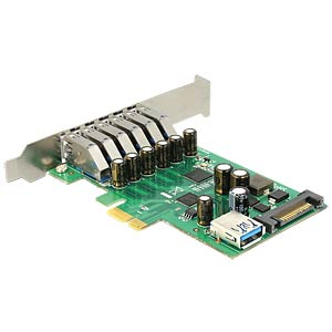 PCI Express Card > 6x extern + 1x intern USB 3.0 DELOCK 89377