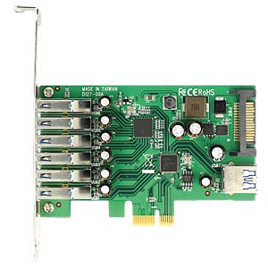 PCI Express card > 6x external + 1 x internal USB 3.0 DELOCK 89377