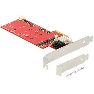 PCIe 2x SATA 6Gb/s  + 2x M.2 DELOCK 89379