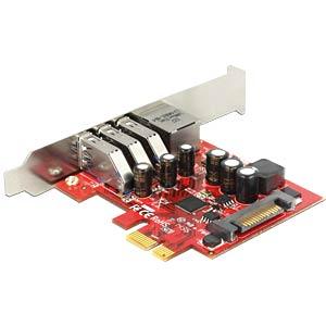 USB-Controller 3.0, 3-Port, Giga-LAN, PCIe, LP DELOCK 89382