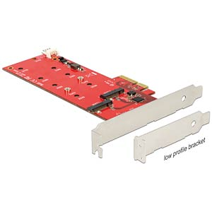 PCI Express Karte > 2 x intern M.2 NGFF DELOCK 89388