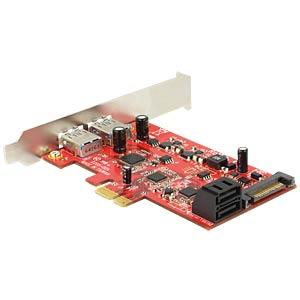 PCIe x1 SATA 6Gb/s 2x SATA + 2x USB 3.0 DELOCK 89389